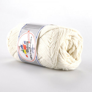Mayflower Cotton 8/4 Junior Yarn Unicolor 1401 Off White