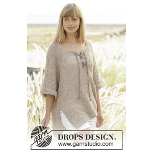 Country Stroll by DROPS Design - Knitted Jumper Pattern Size S - XXXL