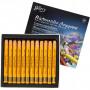 Watercolor Crayons, thickness 8 mm, L: 9.3 cm, 12 pcs, yellow orange (308)