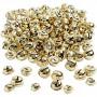 Bells, D: 13+15+17 mm, 220 mixed, gold