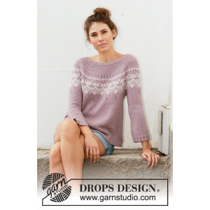 Rosewood by DROPS Design - Knitted Jumper Pattern Sizes S - XXXL