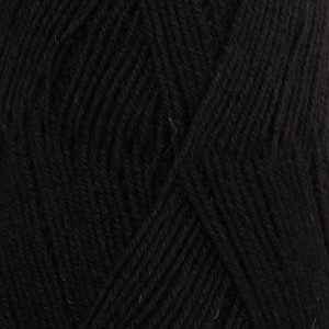 Drops Fabel Yarn Unicolor 400 Black