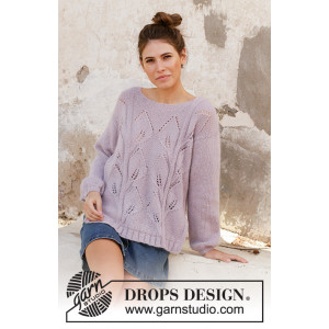 Sweet Topaz by DROPS Design - Knitted Jumper Pattern Sizes S - XXXL