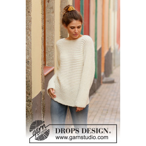 Daily Wonder by DROPS Design - Knitted Jumper Pattern Sizes S - XXXL