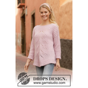 Poetry in Motion by DROPS Design - Knitted Jumper Pattern Sizes S - XXXL