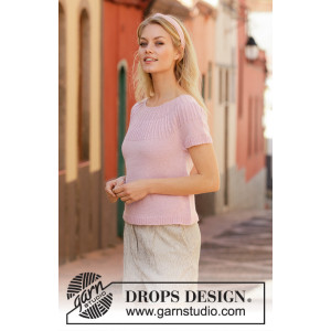Soda Fountain by DROPS Design - Knitted Top Pattern Sizes S - XXXL