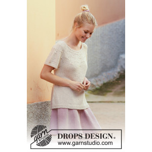 Dandelion Dreams by DROPS Design - Knitted Top Pattern Sizes S - XXXL