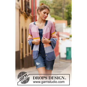 Sonora Sunrise by DROPS Design - Knitted Jacket Pattern Sizes S - XXXL