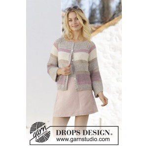 Rose Water Jacket by DROPS Design - Knitted Jacket Pattern Sizes S - XXXL
