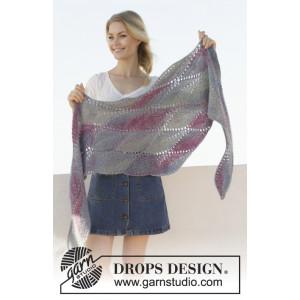 Lamella by DROPS Design - Knitted Shawl Pattern 176x50 cm