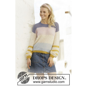Mardi Gras by DROPS Design - Knitted Jumper Pattern Sizes S - XXXL