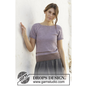 Lonely Horizon by DROPS Design - Knitted Top Pattern Sizes S - XXXL