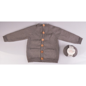Knitted Basic Cardigan by Rito Krea - Jacket Knitting pattern size Premature - 18 months