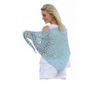 Water Pearl by DROPS Design - Crochet Shawl Lace Pattern 174x57 cm