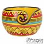 Yarn Bowl Mango Wood Yellow Strip Ø15