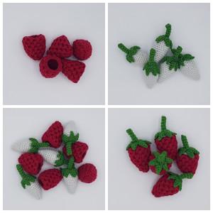 Karla's Raspberries by Rito Krea - Fruit Crochet Pattern 9cm - 5 pcs