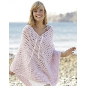 Sweet Crush by DROPS Design - Knitted Poncho Lace Pattern size S - XXXL