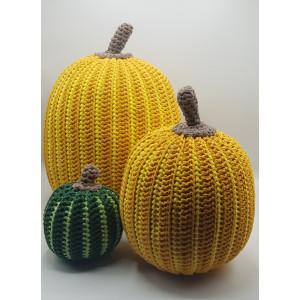 Two-tone Halloween Pumpkin by Rito Krea - Crochet Pattern for Pumkin