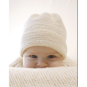 Peek-a-boo by DROPS Design - Knitted Baby Hat Pattern Size Premature - 4 years