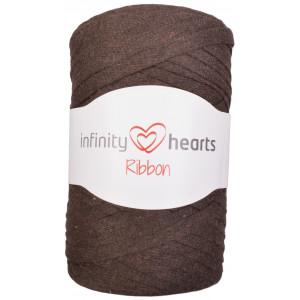 Infinity Hearts Ribbon Fabric Yarn 10 Dark Brown