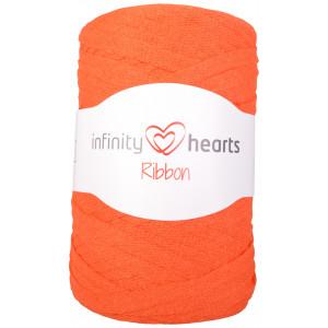 Infinity Hearts Ribbon Fabric Yarn 26 Orange