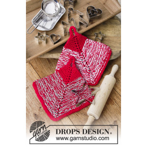 Let's Bake by DROPS Design - Knitted Potholder Pattern 18x18 cm