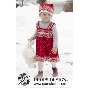 Miss Cookie by DROPS Design - Knitted Dress Pattern Sizes 6 months -6 years