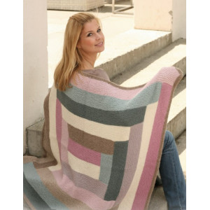 Geometry by DROPS Design - Knitted Blanket Pattern 105x95 cm