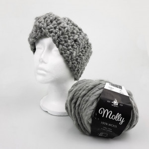 Crocheted Ear Warmer Headband by Rito Krea - Ear Warmer Headband Crochet Pattern size S-L