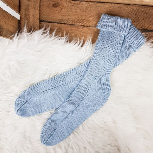 Classic Socks with Bamboo Yarn by Rito Krea - Socks Knitting Pattern size 36-47