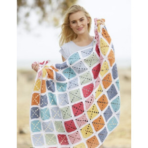 Too Much Fun by DROPS Design - Crochet Blanket Squares Pattern 88x121 cm