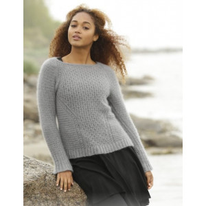 Misty Harbor by DROPS Design - Knitted Jumper Textured Pattern size S - XXXL