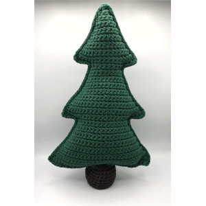 Christmas Tree in fabric yarn by Rito Krea – Christmas Decoration Crochet Pattern 50cm