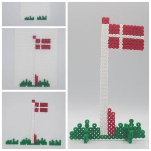 Bead Flag by Rito Krea - Dannebrog Flag Bead Design