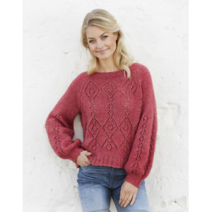 Berry Diamond by DROPS Design - Knitted Jumper Pattern Sizes S - XXXL