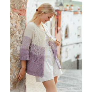 Wistful by DROPS Design - Knitted Jacket Pattern Sizes S - XXXL