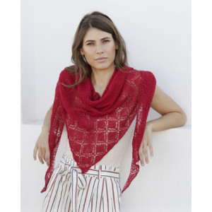 Glowing Embers by DROPS Design - Knitted Shawl Pattern 174x54 cm