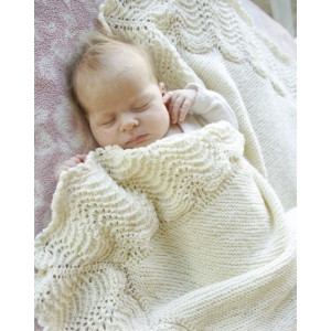 Baby Bliss by DROPS Design - Knitted Baby Blanket Pattern 80x80 cm