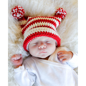 Tiny Elf by DROPS Design - Crocheted Hat Pattern Sizes 0 months - 4 years