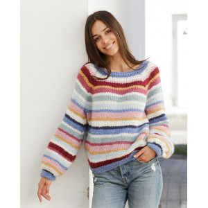 Happy Stripes by DROPS Design - Knitted Jumper Pattern Sizes S - XXXL