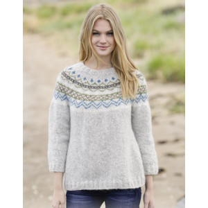 Sjona by DROPS Design - Knitted Jumper with Nordic Pattern Size S - XXXL