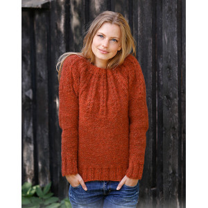 Clemenceby DROPS Design - Knitted Jumper Pattern Sizes S - XXXL