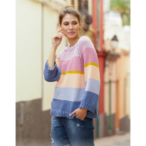 Sonora Sunrise Sweater by DROPS Design - Knitted Jumper Pattern Sizes S - XXXL