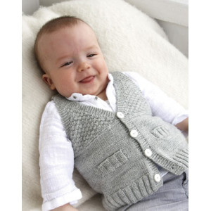 Junior by DROPS Design - Knitted Baby Vest Pattern Size 1 months - 4 years