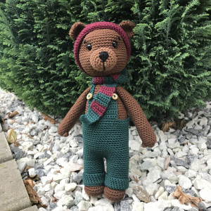 Bruno Teddy Bear by Rito Krea – Soft Toy Crochet Pattern 24cm