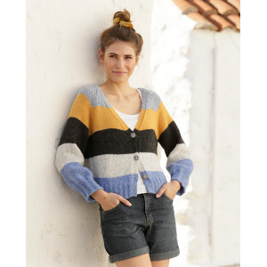 Valencia Cardigan by DROPS Design - Knitted Jacket Pattern Sizes S - XXXL