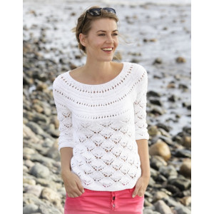 Clara by DROPS Design - Jumper with Lace Pattern Size S - XXXL