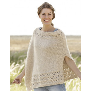 So Classy! by DROPS Design - Knitted Poncho Pattern size S - XXXL