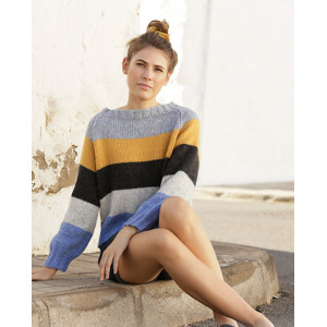 Valencia by DROPS Design - Knitted Jumper Pattern Sizes S - XXXL