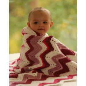 Baby Snug by DROPS Design - Crochet Baby Blanket Pattern 65/75 x 83 cm